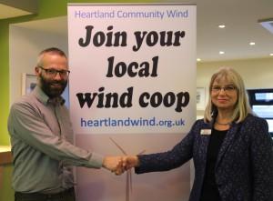 Jon Halle of HCW and Margaret Munkton, Principal of Perth UHI