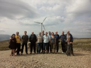at the turbine